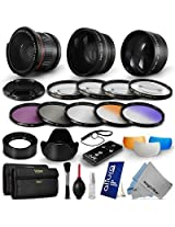 Essential Lens Set & Filter Kit for 58MM Canon Rebel T5i T4i T3i T3 T2i T1i XSi