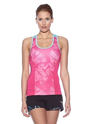 PUMA Tank Top Ess Gym Graphic (cabaret/blue curacao)