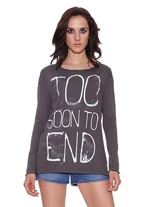 The Hip Tee Camiseta Too Soon (Negro Lavado)