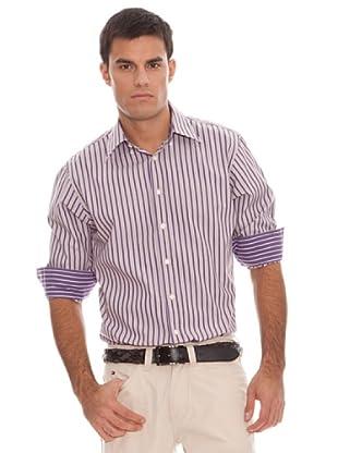 Tommy Hilfiger Camisa Rayas (Morado / Beige)