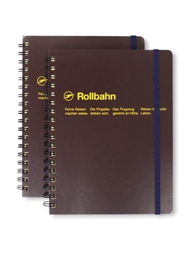 Sweet Bella Set of 2 Rollbahn Spiral Notebooks (Brown)
