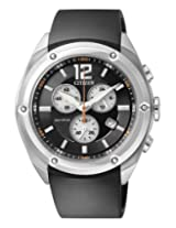 Citizen Eco-Drive Analog Black Dial Men's Watch - AT0980-12F
