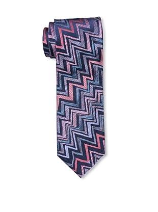 Missoni Men's Big Zig Zag Tie, Blue/Pink