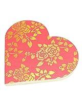 R S Jewels Paper Handmade Heart Shape Flora Designs Diary DRY-0234