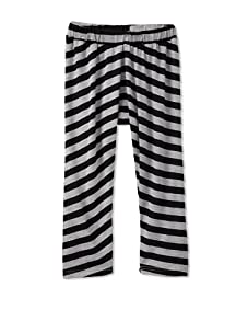 Peas & Queues Kids Piper Harem Pant (Grey/Black Stripe)