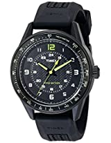 Timex Men's T2P024KW Ameritus Sport Black Dial, Black Silicone Strap Watch