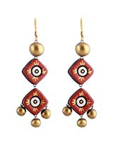 Scorched Earth Lannis Terracotta Hook Earring ( Multi-Colour )