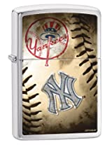 Zippo Pocket Lighter MLB New York Yankees Brushed Chrome Pocket Lighter