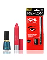 Revlon Colorburst Matte Balm Unapologetic and Nail Enamel Peacock Blue