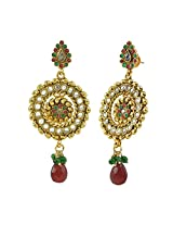 """AAKSHI """"Ancient Bronze Meenakari Swaroop"""" Jhumka Dangle Earings"""