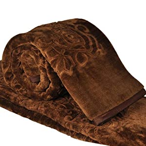 Double Bed Embossed Design Style Soft Mink Blanket By Little India - Model Number DLI3DBK212
