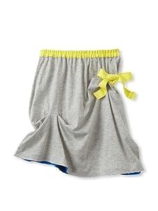 kicokids Girl's Asymmetric Jersey Skirt (Grey)
