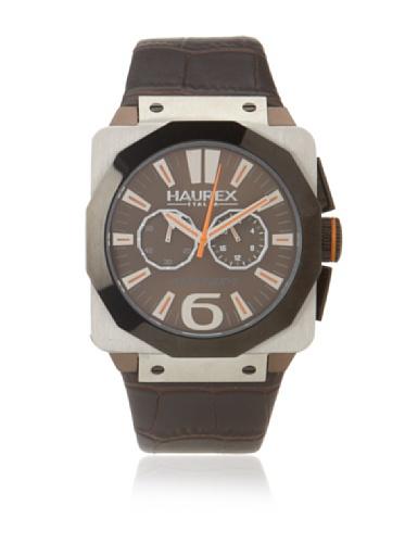 Haurex Italy Men's 9D372UMM Athenum Brown Aluminum And Steel Chronograph Watch