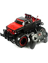 WebKreature Bigfoot Extreme Rock Crawler Monster Truck With Radio Controller - Red / Green