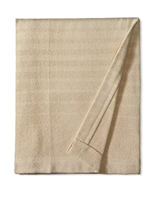 Coyuchi Ombre Organic Cotton & Wool Throw, Natural/Mustard