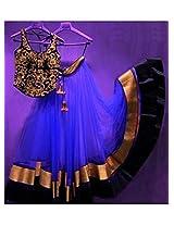pushty fashion disigner Blue Lehngha Choli Semistiched