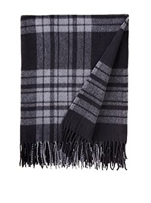 BRUN DE VIAN-TRIAN Merino Plaid Throw, Nuit