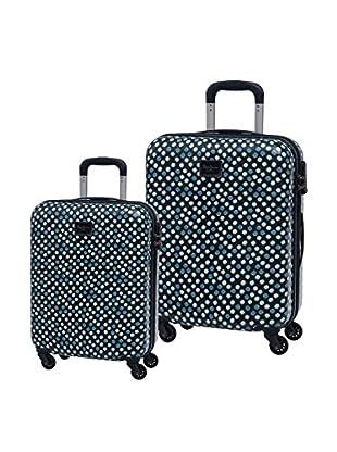Pepe Jeans Set de 2 trolleys rígidos Lunares Azul Marino