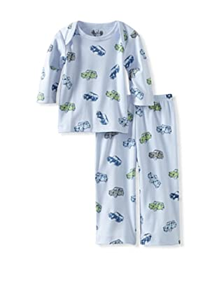 Margery Ellen Baby Pima Cotton Tee Set with Print (Blue Cars)