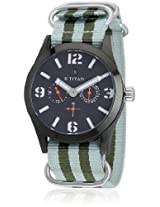 Titan Purple 9473Ap04J Green/Black Analog Watch