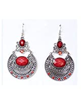 Trendy Lions Classic Antique Earrings Fashion Drop (Red)
