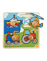 Bigjigs Toys BJ519 My First Peg Puzzle Transport