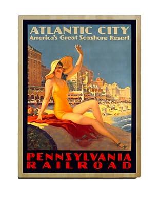 Artehouse Atlantic City Bamboo Wood Sign