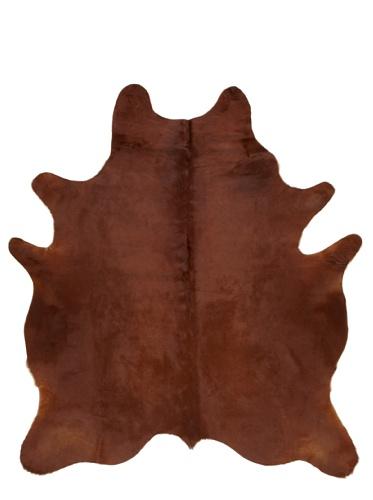 Shaped Hide Dark Brown Rug, 7' x 6'
