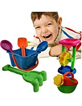 Toy Cubby Beach Sand And Sandbox Sand Wheels With Bucket Play Set