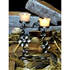 Tucasa Candle Holder With Wax Candle