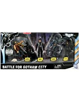 Batman Dark Knight Rises Exclusive 4 Inch Action Figure 5Pack Battle For Gotham City Bane Caped Crusader Batman Bruce Wayne Stealth Vision Batman Catwoman