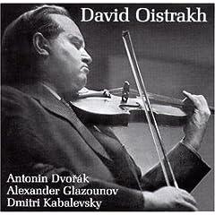 オイストラフ独奏 ドヴォルジャーク、グラズノフ、カバレフスキー ヴァイオリン協奏曲集の商品写真