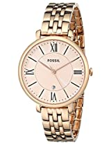Fossil Women's ES3435 Jacqueline Analog Display Analog Quartz Rose Gold Watch