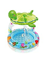 Sea Turtle Inflatable Childs Baby Toddlers Sun Shade Swimming Paddling Pool