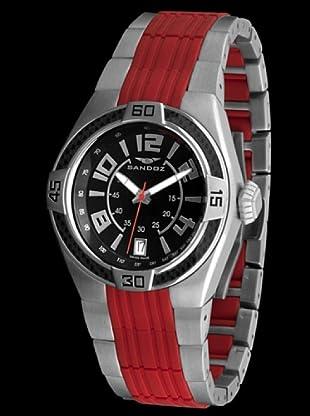 Sandoz 71553-06 - Reloj Fernando Alonso Caballero plata / rojo