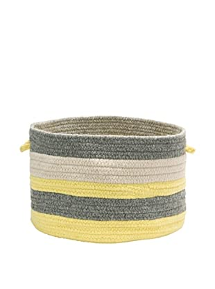 Colonial Mills Elliott Stripe Basket, (Yellow/Gray/Natural)