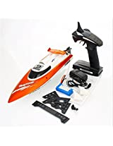 Feilun Ft009 2.4 G 4 Channel 4 Ch Wireless Remote Control Rc Racing Boat With Water Cooling System Orange