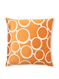 Trina Turk Embroidered Spectacles Pillow (Orange)