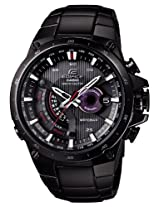Casio Edifice Solar Powered Black Plated Atomic Watch