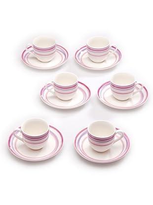 Tognana Set 6 Tazze Caffè con Piattino Perla