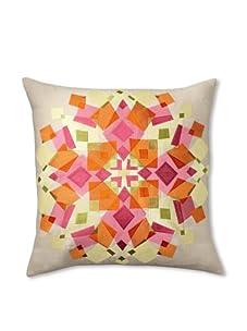 Trina Turk Embroidered Kaleidoscope Pillow (Red/Orange)