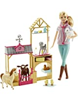 Barbie Farm Vet Doll and Playset, Multi Color