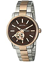 Bulova Automatic Analog Brown Dial Men's Watch - 98A140