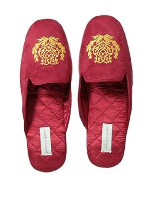 Patricia Green Women's Carolyn Crest Slipper (Red)
