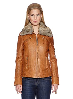 HIS Lederjacke (Cognac)