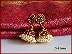 Temple jewellery style kundalam/jumkha -Frinkytown