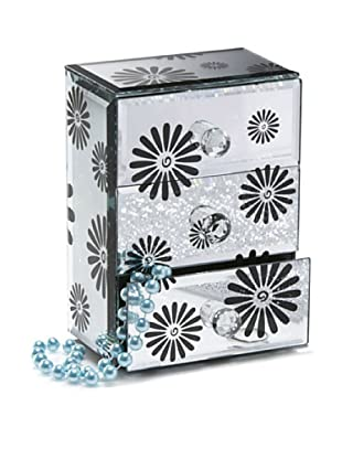 Allure Daisy Jewelry Box with 3 Drawers