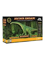 Brachiosaurus Action Figure - Includes Real Dinosaur Bone Fossil!