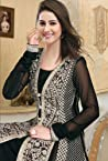Fascinating Black Georgette Anarkali Salwar Kameez with Dupatta-TBSUROSE102