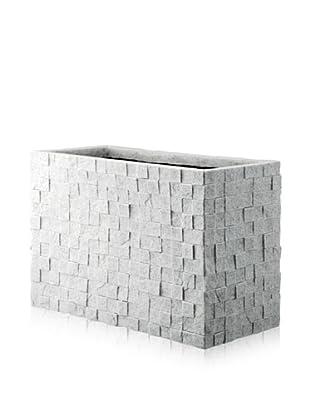 DKLiving Rectangular Faux Granite Planter, Grey